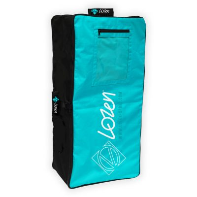 Sac de transport pour Stand Up Paddle Lozen Bleu vue d'angle avant