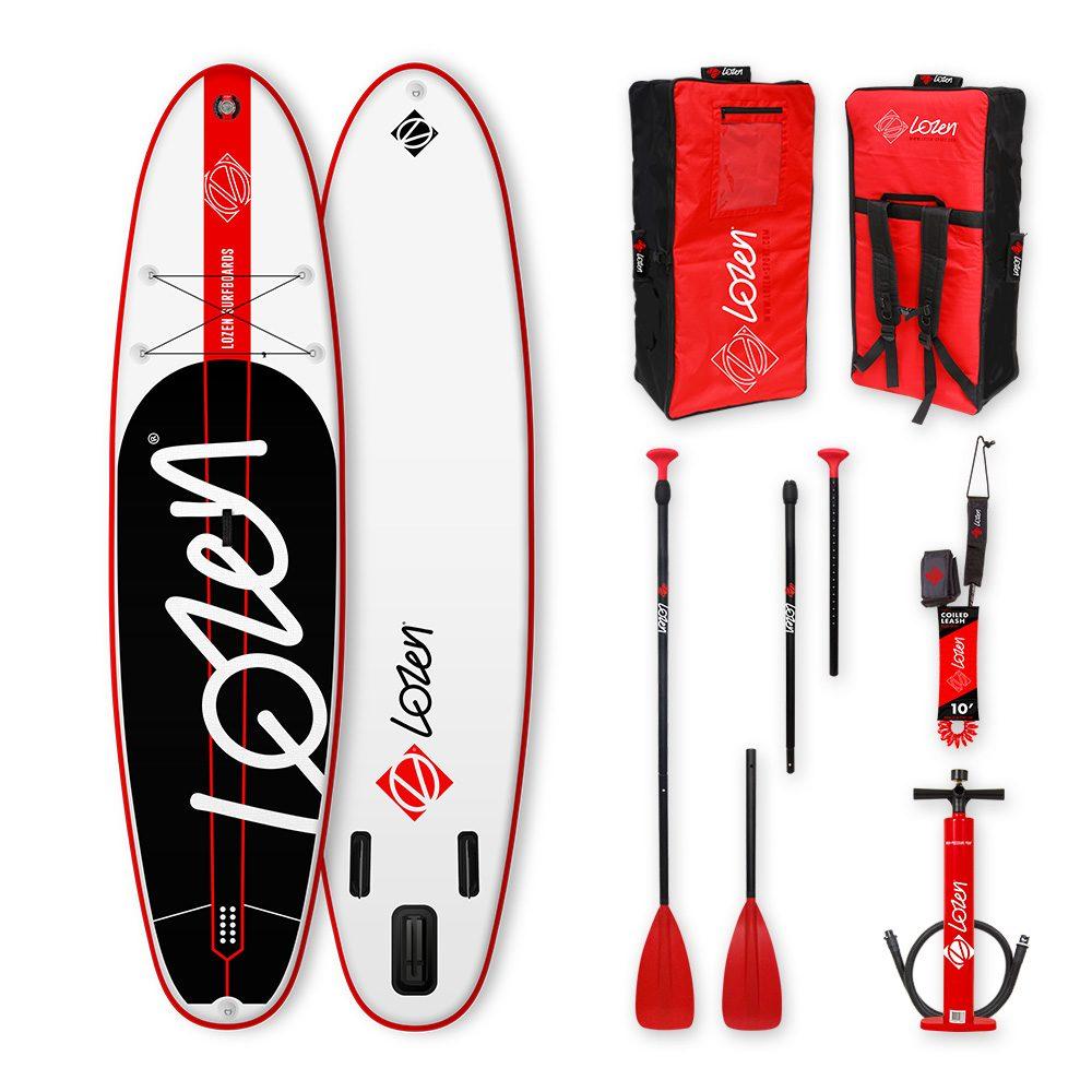 Stand Up Paddle Board gonflable Lozen 10'8 pour la famille. Pour les longues balades, le yoga fitness et les petites session surf.