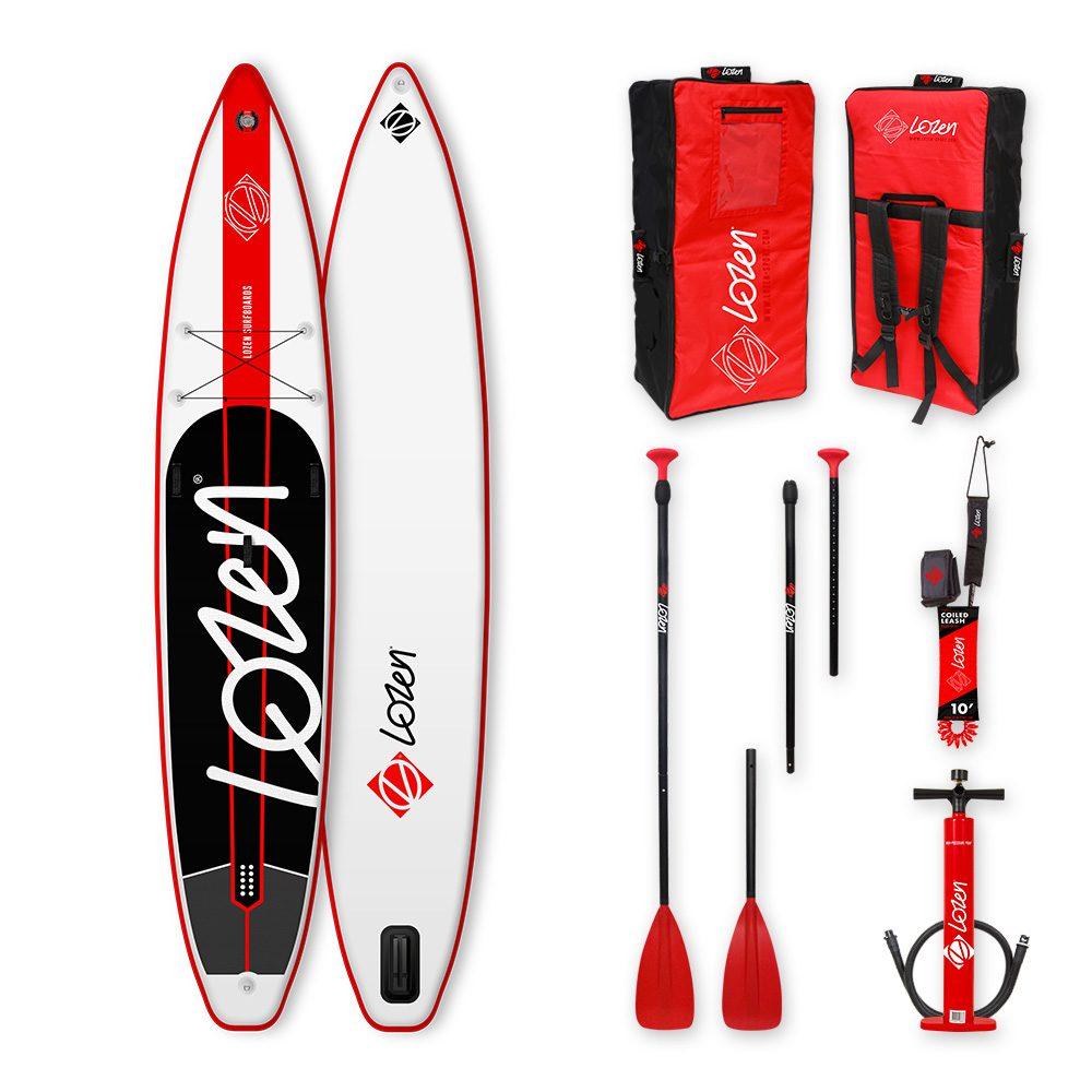 Stand Up Paddle Board gonflable race Lozen 12'6 premium fusion pour la course et la longue distance.