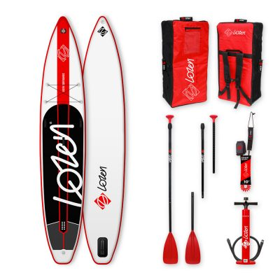 Lozen 12'6 premium fusion inflatable Stand Up Paddle Board for races and long distance.