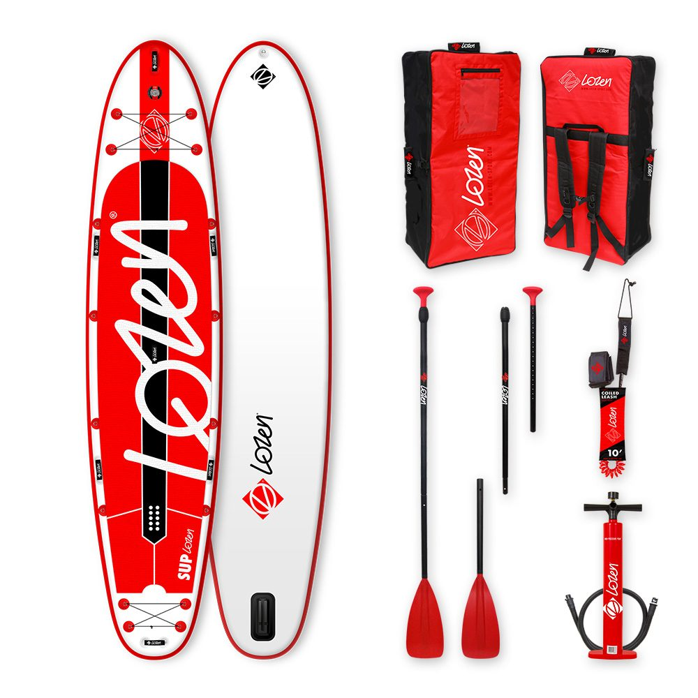 Inflatable Stand Up Paddle Board for two people Lozen 12'8. Premium ultra light fusion construction for walks, fitness and small surf.