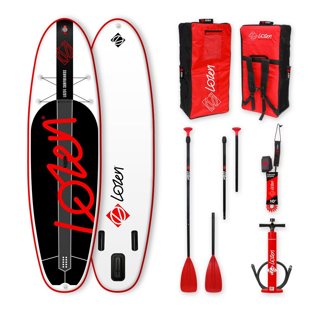 Stand Up Paddle Board gonflable Lozen 9'9 pour la famille. Pour balades de session surf.