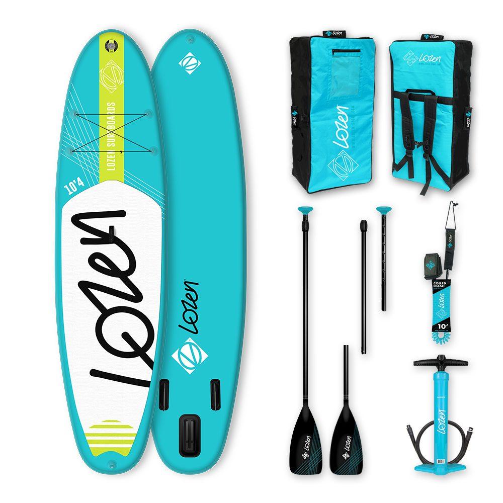 Stand Up Paddle Board gonflable allround pas chère Lozen 10'4 pour le surf et les petites balades.
