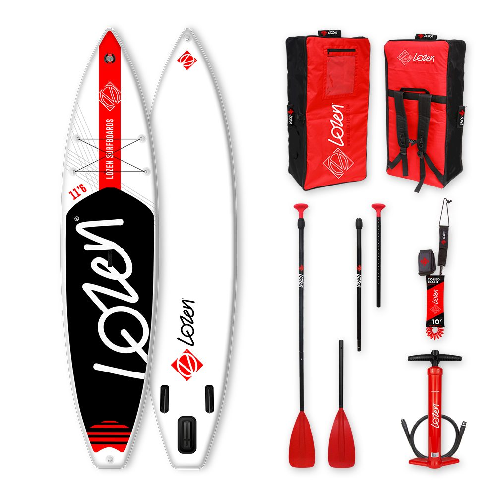 Stand Up Paddle Board gonflable touring Lozen 11'6 premium dropstitch fusion pour la longue distance.