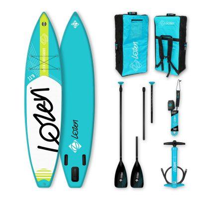 Stand Up Paddle Board gonflable Lozen 11'6 léger pour les longues randonnées et la course.