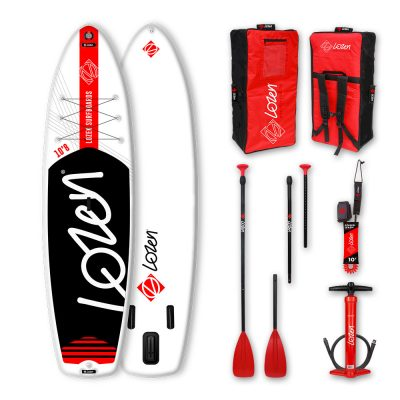 Inflatable Lozen 10'8 WIDE Stand Up Paddle Board stable to begin with.