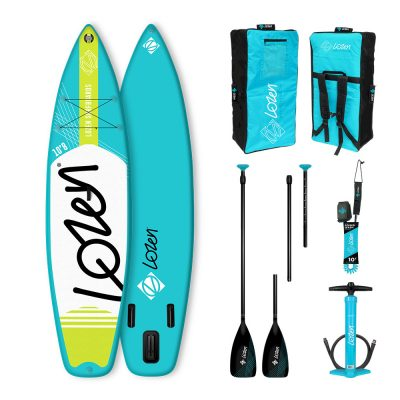 Stand Up Paddle Board gonflable Lozen 10'8 Touring Blue Line idéal famille.